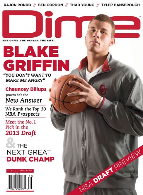 blake griffin shirt off. Blake Griffin covers Dime #49