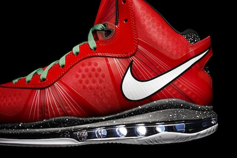 "Nike LeBron 8 V.2 ""Run On Red"""