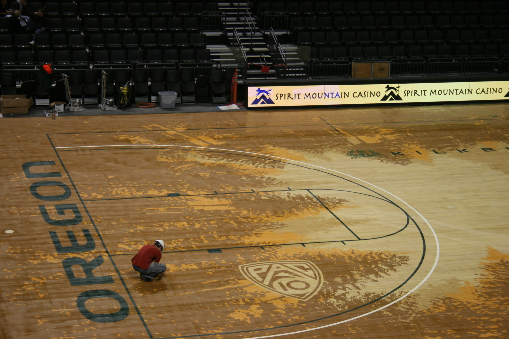 Oregon Basketball Court