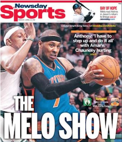 "Carmelo Anthony Likes That Knicks Owner James Dolan ""Looks Out""…"