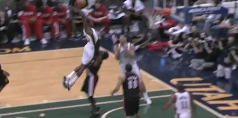 Jeremy Evans Absolutely Destroys Gerald Wallace