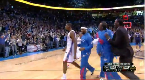Kevin Durant buzzer beater against the Mavs