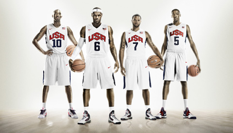 Kobe, LeBron, KD and Deron Williams Team USA