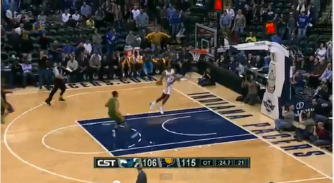 Paul George Windmill dunk highlights