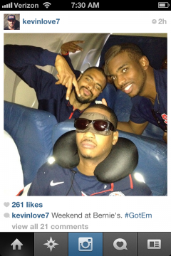 Kevin Love and Team USA got Carmelo Anthony