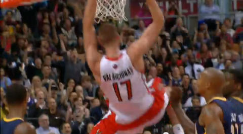 Jonas Valanciunas dunk video