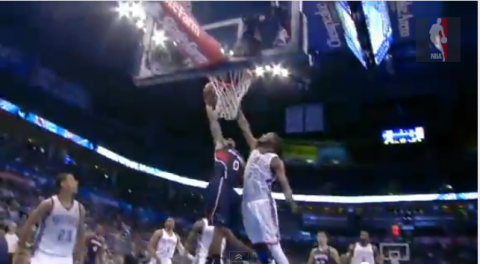 jeff teague dunk on kevin durant