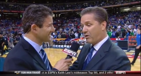 joh calipari duke flopping