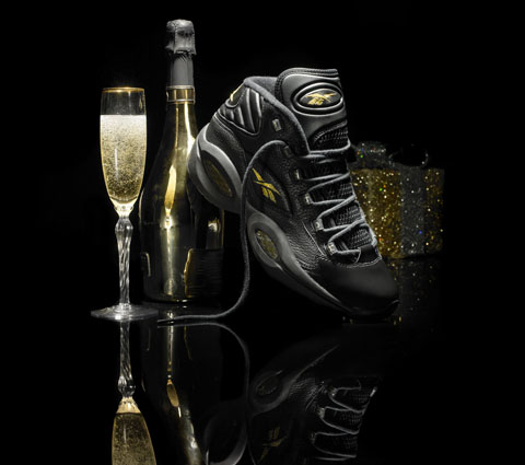 Reebok Question Mid (Black/Gold)