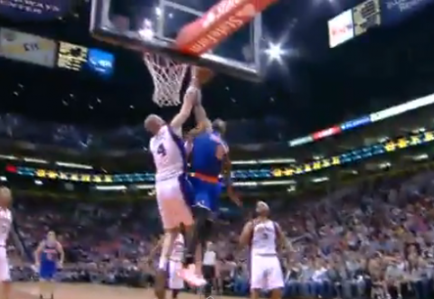 Marcin Gortat Obliterates J.R. Smith's Dunk