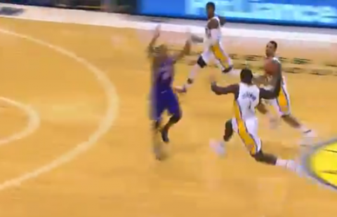 Lance Stephenson Launches a Solid Skip Pass