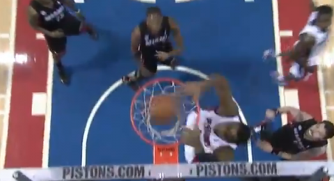 Will Bynum Lobs the Rock to Andre Drummond