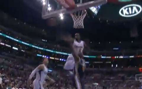 DeAndre Jordan Comes Up With A Monster Spike Block