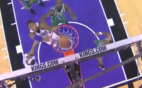 Jason Thompson Cleans Up With A Put Back Slam