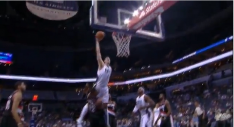 byron mullens lamarcus aldridge dunk video