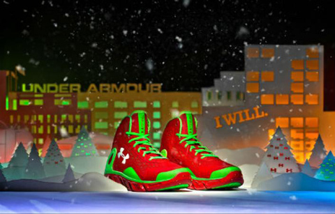 "Under Armour Spine Bionic BB ""Christmas"" Edition (photo. SneakerWatch.com)"