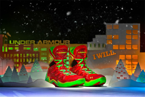 "Under Armour Charge BB ""Christmas"" Edition (photo. SneakerWatch.com)"