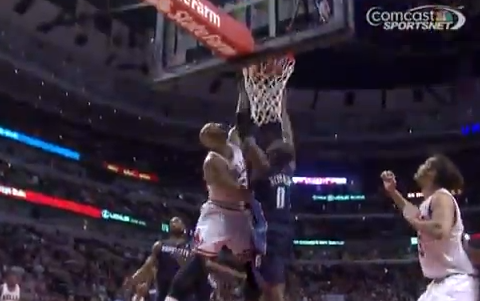 Carlos Boozer Dunks All Over Bismack Biyombo & Drops Him To…