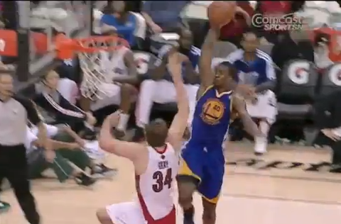 Harrison Barnes Crushes A Nasty Slam On Aaron Gray's Head