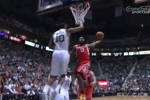 Sneakers » Blog Archive James Harden's Monster Dunk On The Utah Jazz