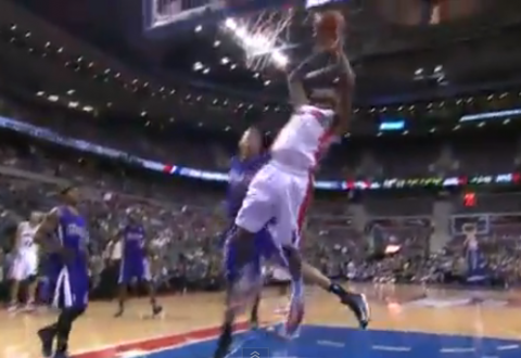 Brandon Knight Attacks With A Hoop and Harm