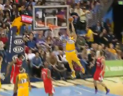 JaVale McGee Hammers in Alley-Oop Dunk