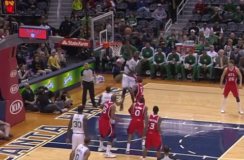Rajon Rondo Launches Lob to Kevin Garnett