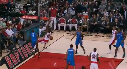 Amir Johnson Throws Down Monster Dunk