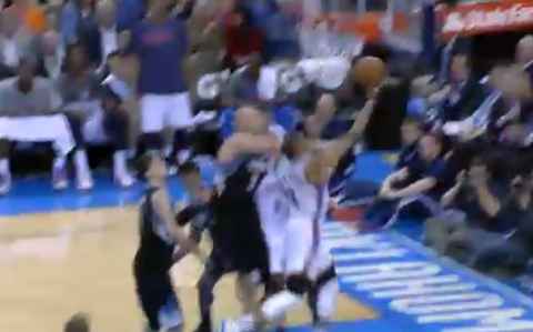 Russell Westbrook Shows Off His Signature Finish to the Hoop