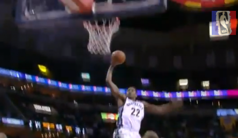 Rudy Gay Throws Down the One-Handed Slam