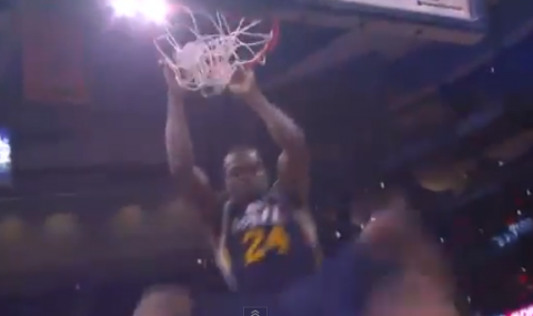 Paul Millsap Destroys the Rim