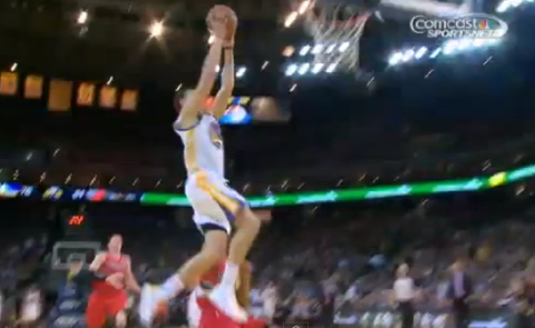 Klay Thompson Steals and Scores