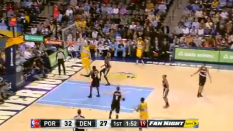 JaVale McGee Throws A Down One-Handed Alley-Oop