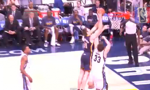 Tyler Hansbrough Throws Down A Strong Follow Through
