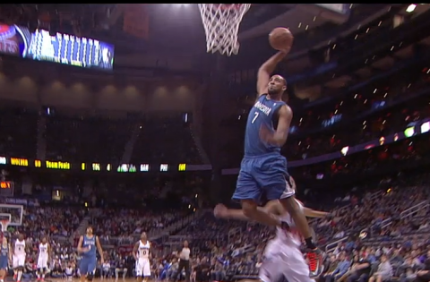 Derrick Williams Hammers In A Monster Dunk