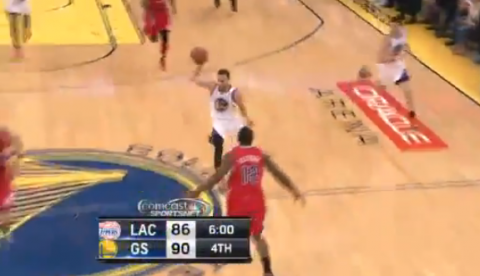 Stephen Curry Launches The Perfect Pass