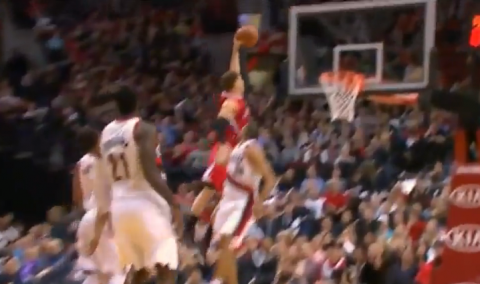 Blake Griffin's Monster Dunk Over Nicolas Batum