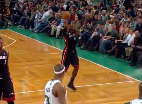 LeBron James Throws a No-Look Alley-Oop to Dwyane Wade