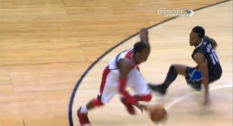 john wall behind the back crossover video
