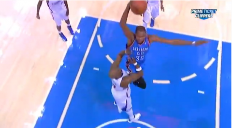 kevin durant dunk on the clippers
