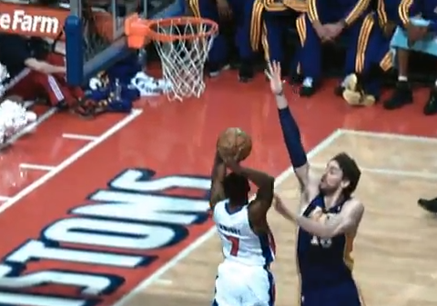 Brandon Knight Dunks All In Pau Gasol's Face
