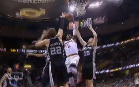 C.J. Miles Dunks All Over San Antonio's Frontcourt