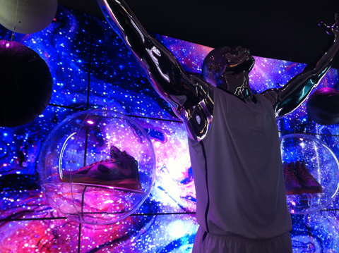 "Behind-The-Scenes Of Nike's NBA All-Star ""Area 72""³ Exhibit"
