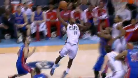 Michael Kidd-Gilchrist Dunks Right On Greg Monroe's Head