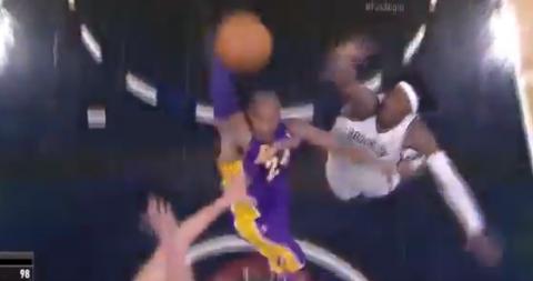 Kobe Bryant Posterizes Two Defenders