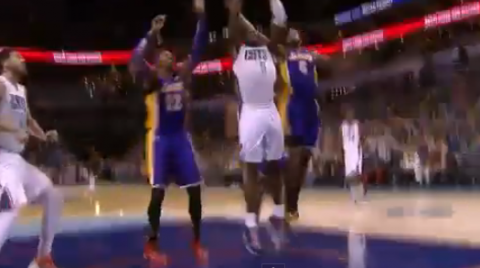 Bismack Biyombo Throws It Down on Dwight Howard