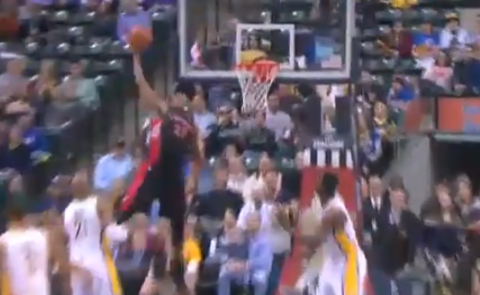 Rudy Gay's Vicious Alley-Oop Spike Dunk