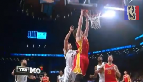 Omer Asik Stops, Spins and Slams