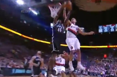 Nicolas Batum Destroys Gerald Wallace's Dunk Attempt