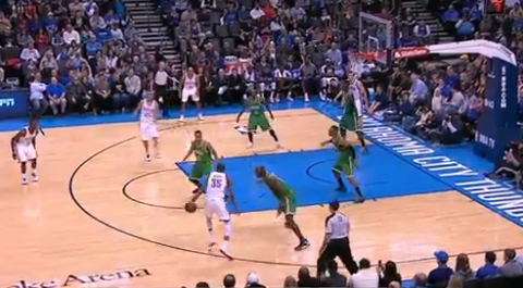 Kevin Durant Turns Around KG With the Crossover